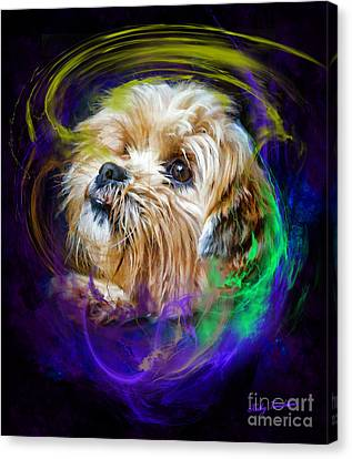 Canvas Print featuring the digital art Reflecting On My Life by Kathy Tarochione