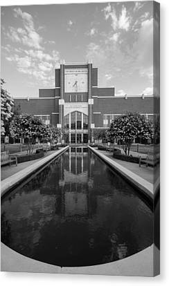 Reflecting Pond Outside Of Oklahoma Memorial Stadium Canvas Print by Nathan Hillis