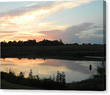 Reflecting Sky Canvas Print by Linda Brown