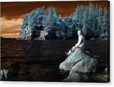 Canvas Print featuring the photograph Reflecting The Day by Rebecca Parker