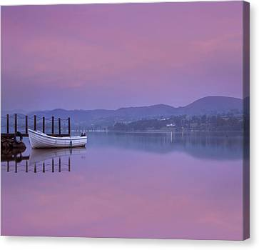 Reflecting The Morning Stillness Canvas Print by Adrian Campfield