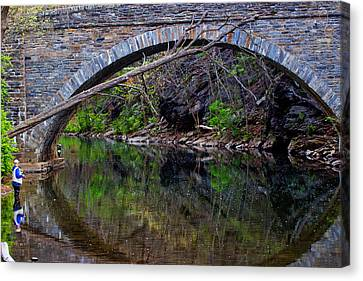 Reflecting While Fishing Canvas Print by Tom Gari Gallery-Three-Photography