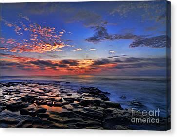 Sunset At Tide Pools At La Jolla Canvas Print