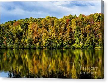 Reflection Autumn Lake Canvas Print by Thomas R Fletcher