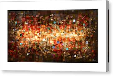 Random Shape Canvas Print - Reflection by Craig Tinder
