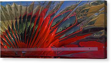 Pickup Truck Door Canvas Print - Reflection In A Taco Truck by Scott Campbell