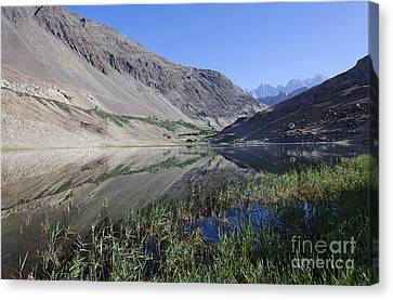Reflection In Borith Lake Canvas Print by Robert Preston