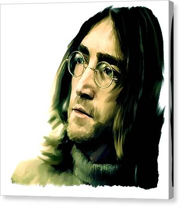 Reflection John Lennon Canvas Print by Iconic Images Art Gallery David Pucciarelli
