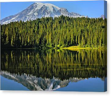 Reflection Lake Mount Rainier Canvas Print