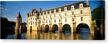 Reflection Of A Castle In Water Canvas Print