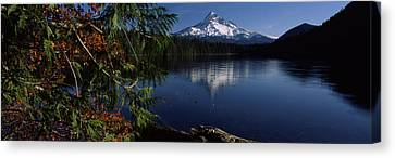 Reflection Of A Mountain In A Lake, Mt Canvas Print by Panoramic Images