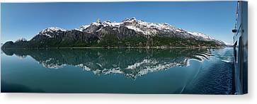 Reflection Of Alaska Range In Lake Canvas Print