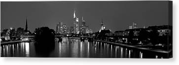 Reflection Of Buildings In Water, Main Canvas Print by Panoramic Images