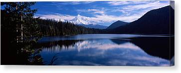 Reflection Of Clouds In Water, Mt Hood Canvas Print by Panoramic Images