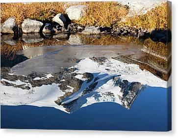 Reflection Of Mount Hoher Zaun Canvas Print by Martin Zwick