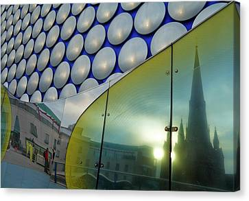 Reflection Of St Margarets Church Canvas Print by Panoramic Images