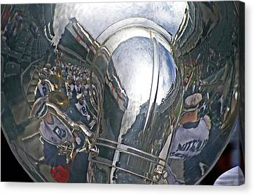 Reflection Of The Marching Band Canvas Print by Tom Gari Gallery-Three-Photography