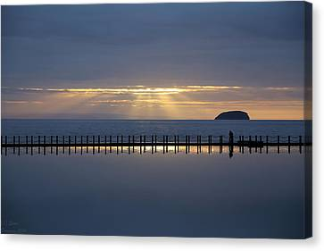 Reflection On A Spring Sunset Canvas Print