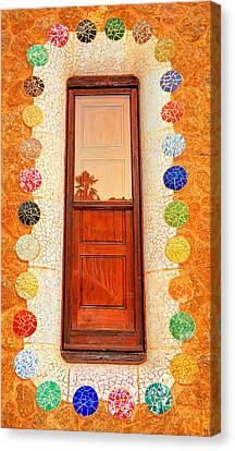Reflection On Gaudi Canvas Print