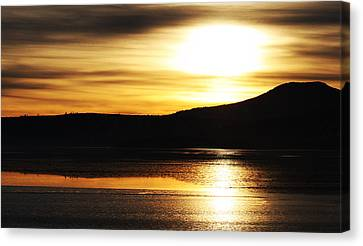 Reflection On Lake Klamath Canvas Print