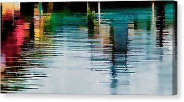 Canvas Print featuring the photograph Reflection On The River by Pamela Blizzard