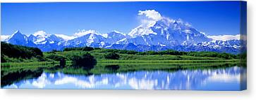 Reflection Pond, Mount Mckinley, Denali Canvas Print by Panoramic Images