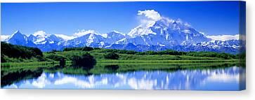 Reflection Pond, Mount Mckinley, Denali Canvas Print