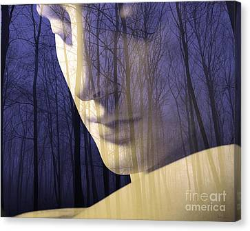 Deliberation Canvas Print - Reflection / The Philosophy Of Mind by Elizabeth McTaggart