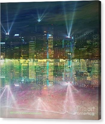 Reflection Water Skyline Canvas Print by PainterArtist FIN