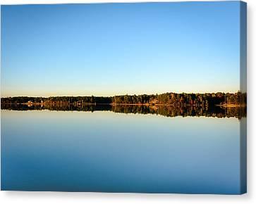 Reflection...lake At Sun Down II Canvas Print