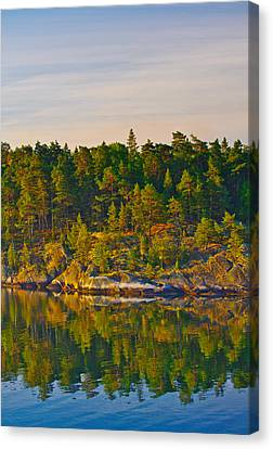 Canvas Print featuring the photograph Reflections 2 Sweden by Marianne Campolongo