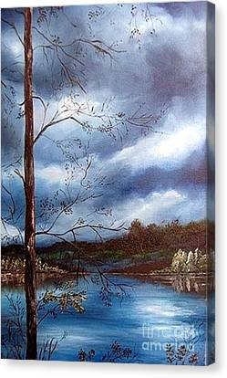 Reflections Canvas Print by Anna-maria Dickinson