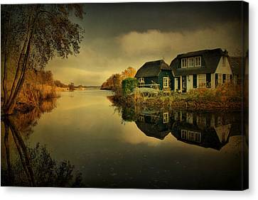 Canvas Print featuring the photograph Reflections by Annie Snel