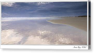 Reflections At Anna Bay Canvas Print by Steve Caldwell