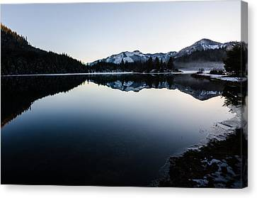Reflections At Gold Creek Pond Canvas Print by Brian Xavier