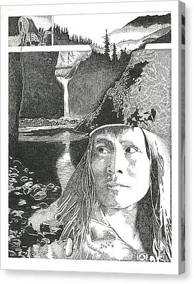 Native American Canvas Print - Reflections by Clayton Cannaday