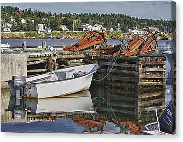 Canvas Print featuring the photograph Reflections by Eunice Gibb