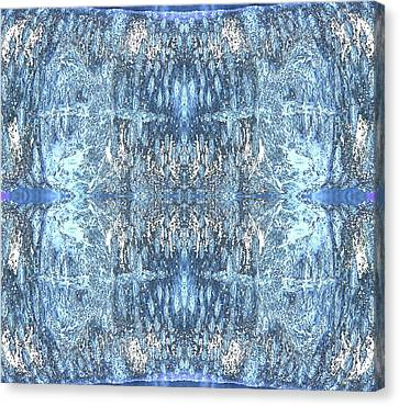Canvas Print featuring the digital art Reflections In Blue by Stephanie Grant