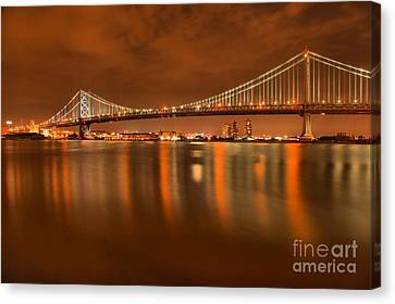 Reflections In The Delaware Canvas Print by Adam Jewell