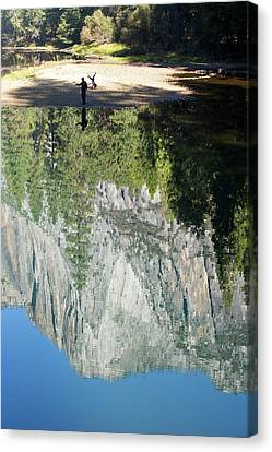 Reflections In The Merced River Canvas Print