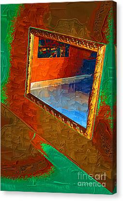 Reflections In The Mirror Canvas Print by Jonathan Steward