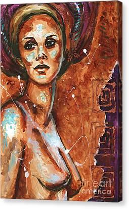 Reflections In The Nude Canvas Print by Alga Washington
