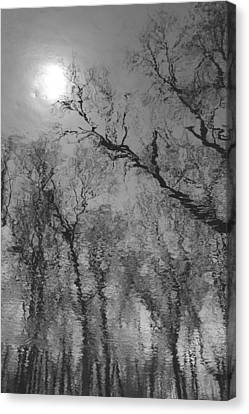 Reflections In Water Canvas Print by Kathleen Scanlan