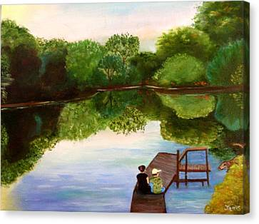Reflections Canvas Print by Janis  Tafoya