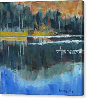 Canvas Print featuring the painting Reflections by Jo Appleby