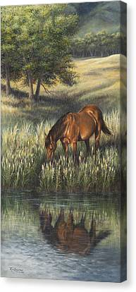 Canvas Print featuring the painting Reflections by Kim Lockman