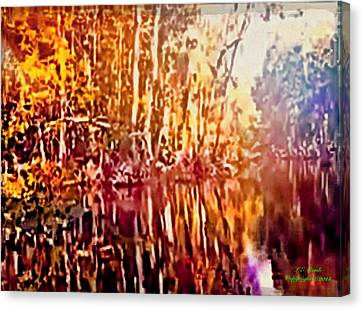 Reflections L Canvas Print by Larry Lamb
