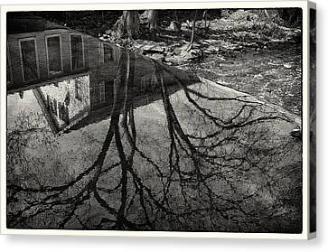 Reflections Northboro Dam Canvas Print by Patrick Garner
