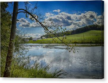Reflections Of A Beautiful Day Canvas Print by Kathy Jennings