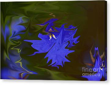 Reflections Of A Flower Canvas Print by Carol Lynch